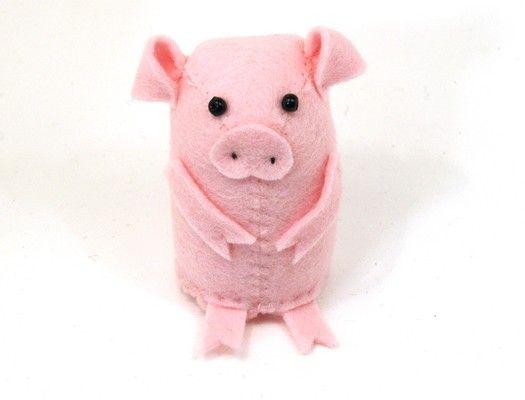 Ornamento de cerdo rosa Linda sentí ornamento por TheHouseOfMouse, €25.00
