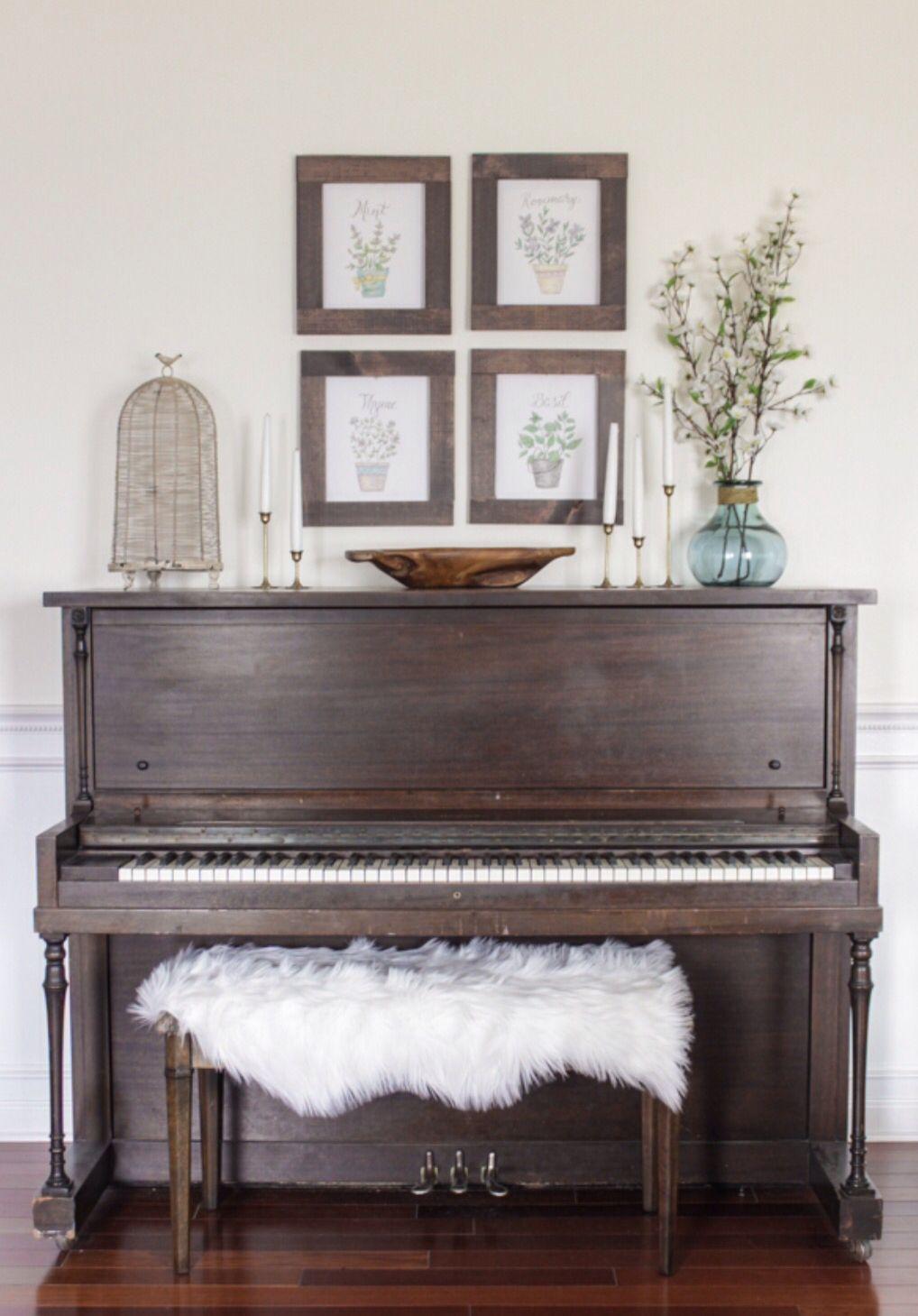 Antique Piano Original Finish Piano Decor Upright Piano D