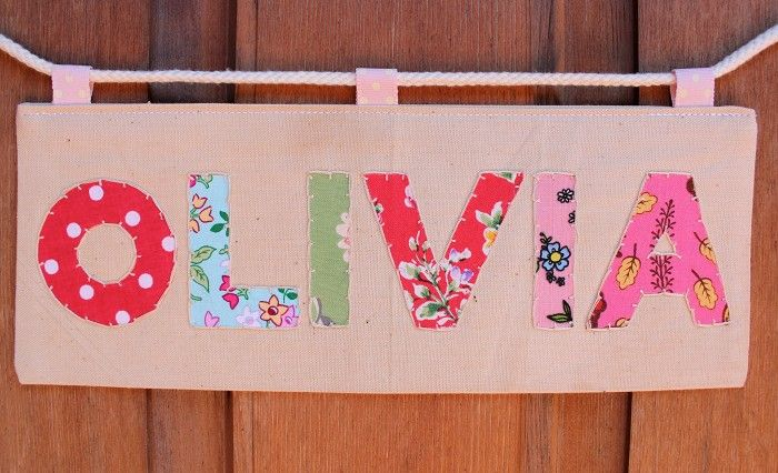 Personalised Childrens Fabric Door Plaque Name Sign Bedroom Signs Room