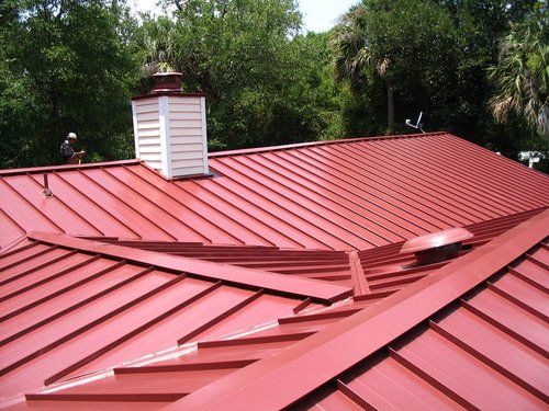A Standing Seam Metal Roof Can Be A Cost Saver In The Long Run Standing Seam Metal Roof Standing Seam Commercial Metal Roofing