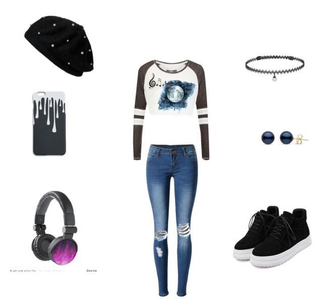 """LOL"" by sam-rue on Polyvore featuring moda, WithChic, Superdry, Benzara y BERRICLE"