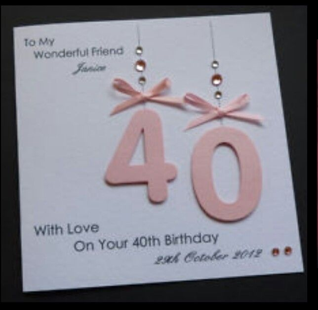 40th Card Handmade