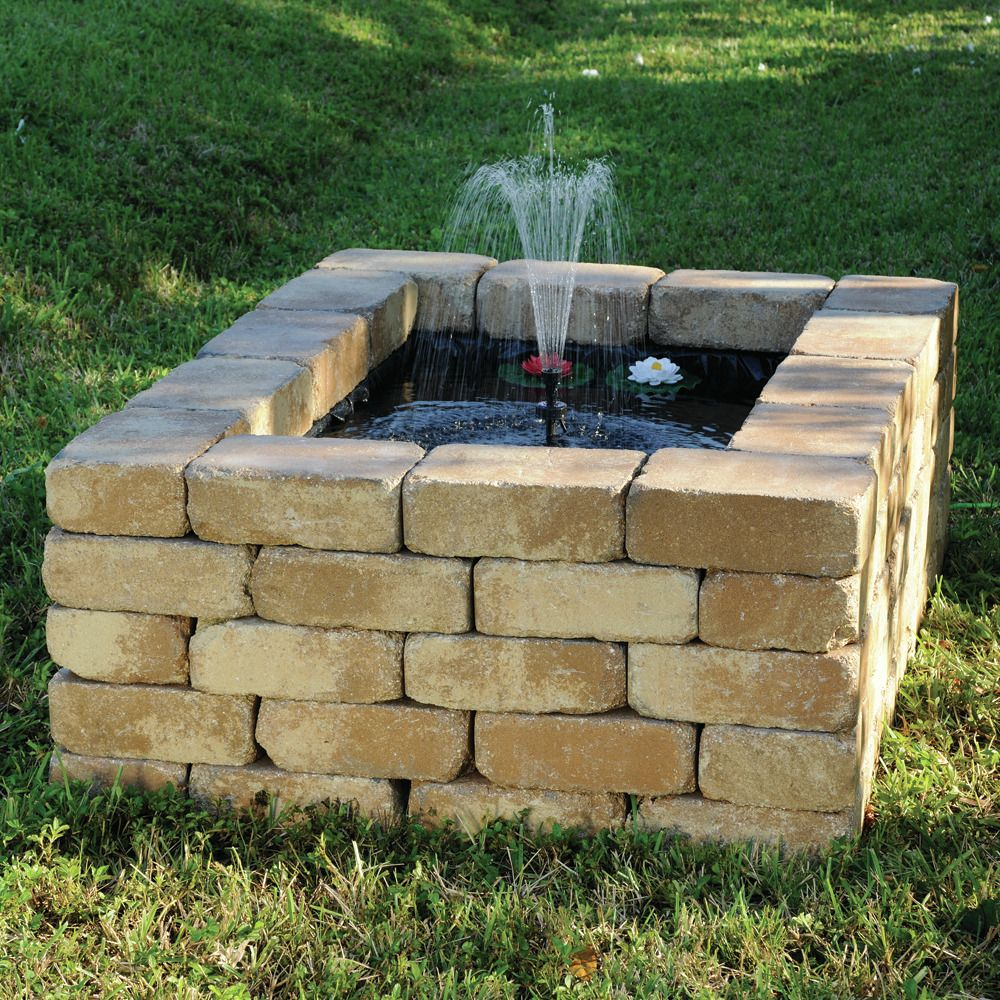Cute Little Square Water Feature For The Yard Pond