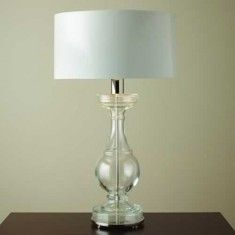Global Views Glass Balustrade Lamp with Shade