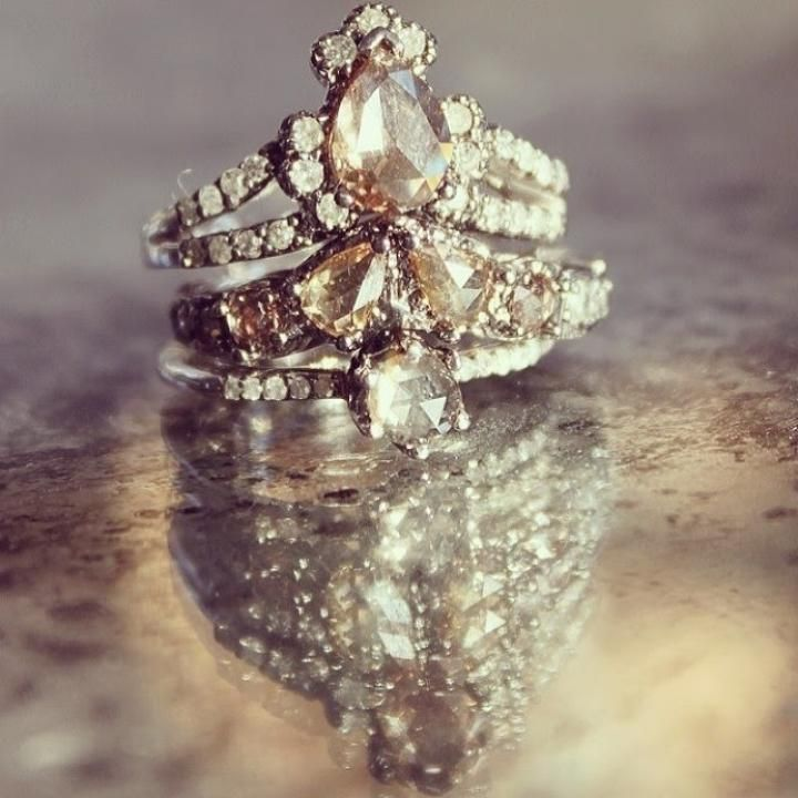 bohemian engagement rings instagram the_lane - Bohemian Wedding Rings