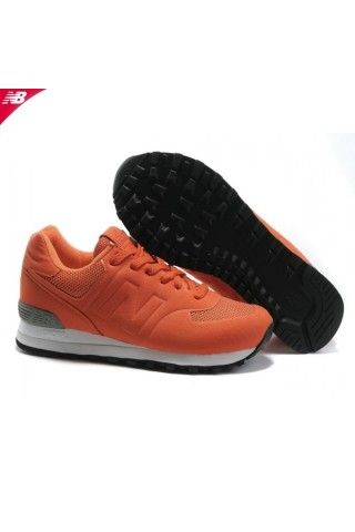 reputable site 21abb 6c94f Mango Orange White New Balance 574 Sonic Men Cheap