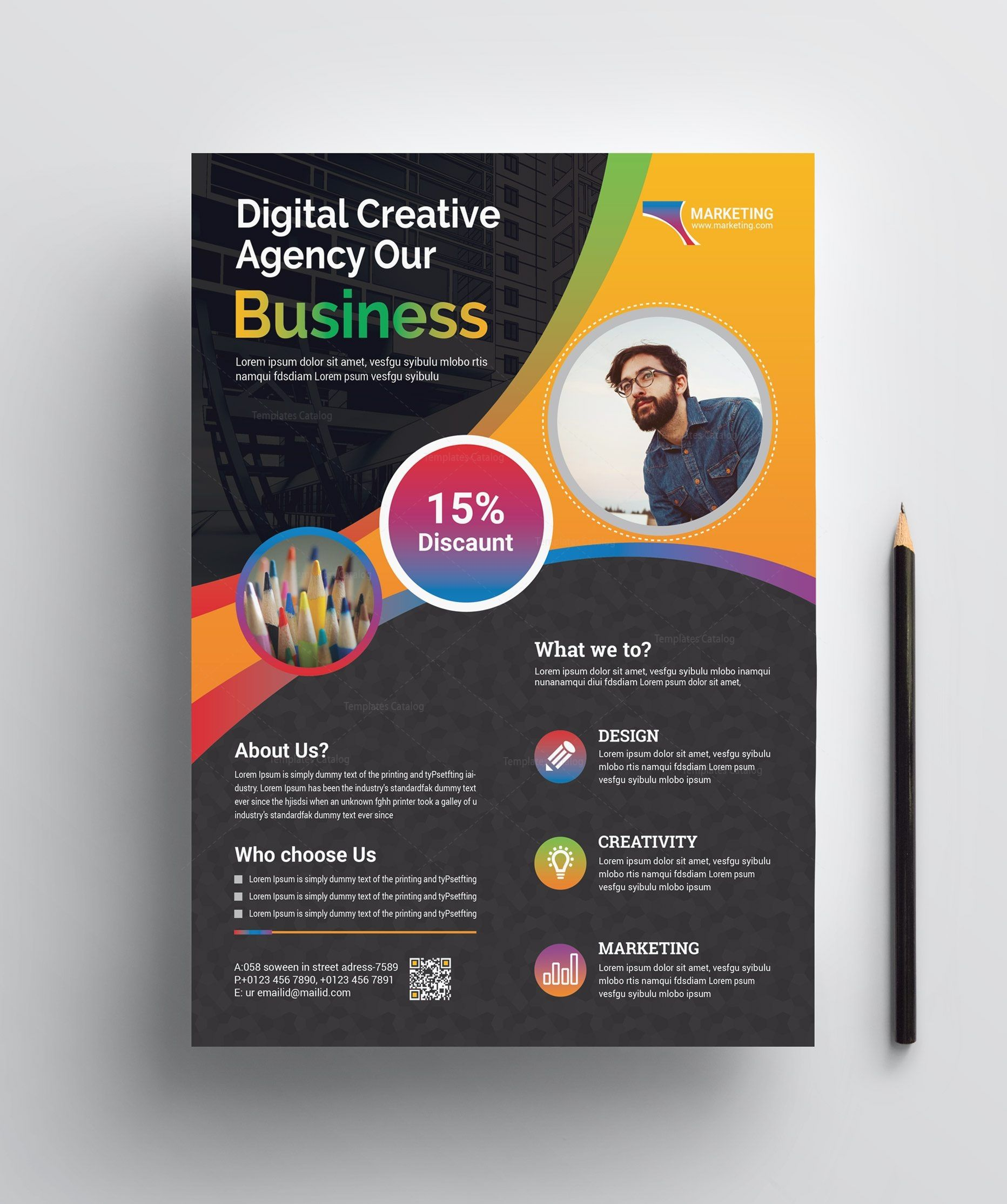 Professional Print Flyer Template Graphic Templates Flyer Template Flyer Corporate Flyer