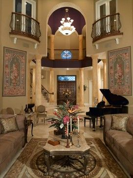 Placing A Grand Piano Mediterranean Living Rooms House Design My Dream Home