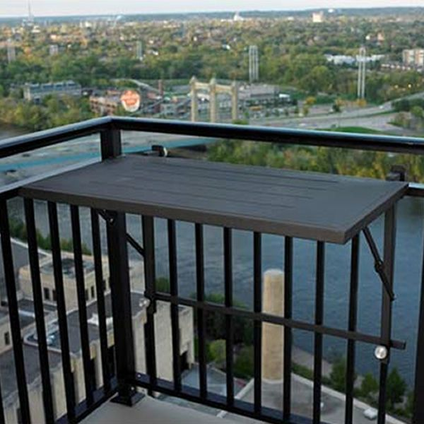 Folding Deck Rail Table Shapeyourminds Balcony In