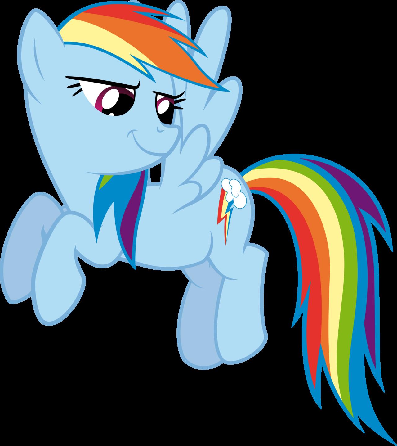 Smirking Rainbow Dash By Redpandapony Deviantart Com On