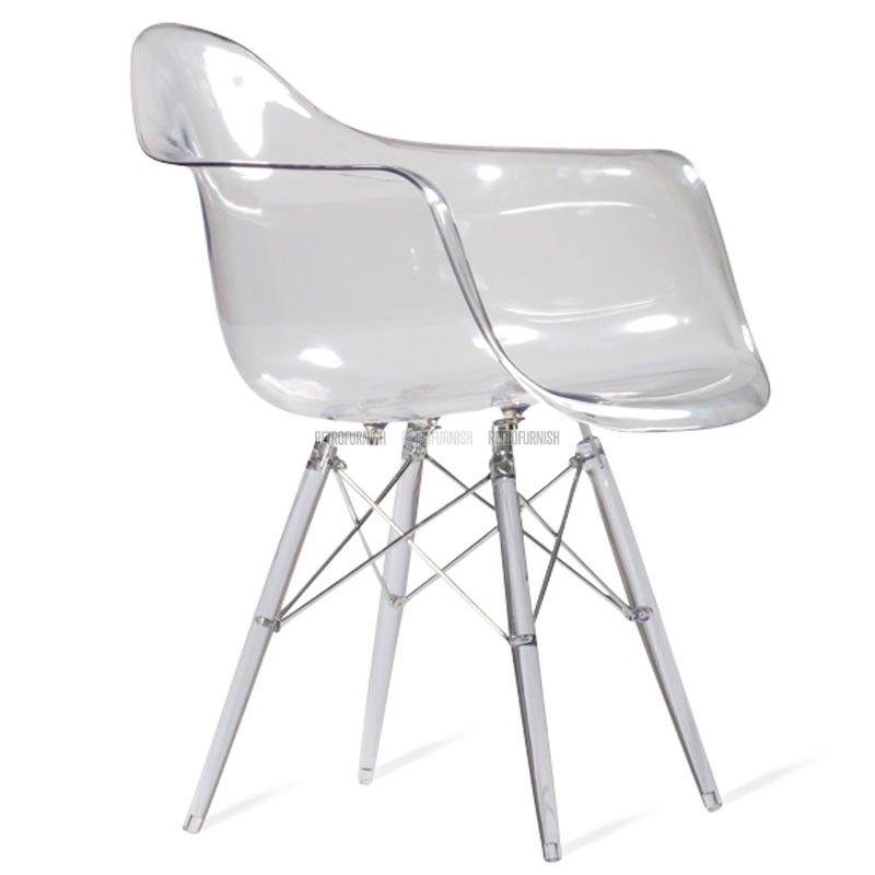 Great daw chair doorzichtig door charles eames replica for Replica design meubelen