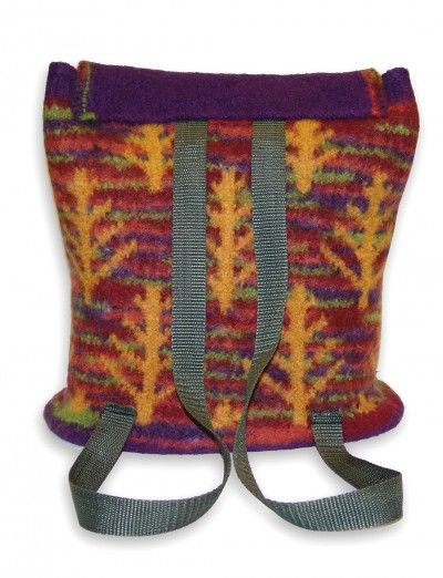 Free Felted Back Pack Autumn Woods Bag Patterns Yarnspirations