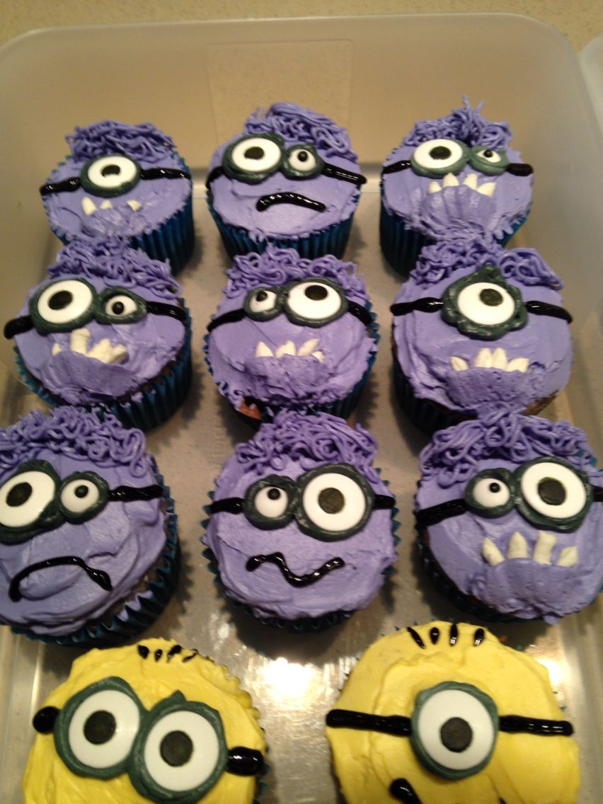 My Purple Minion Cupcakes Baking Ideas In 2019 Minion