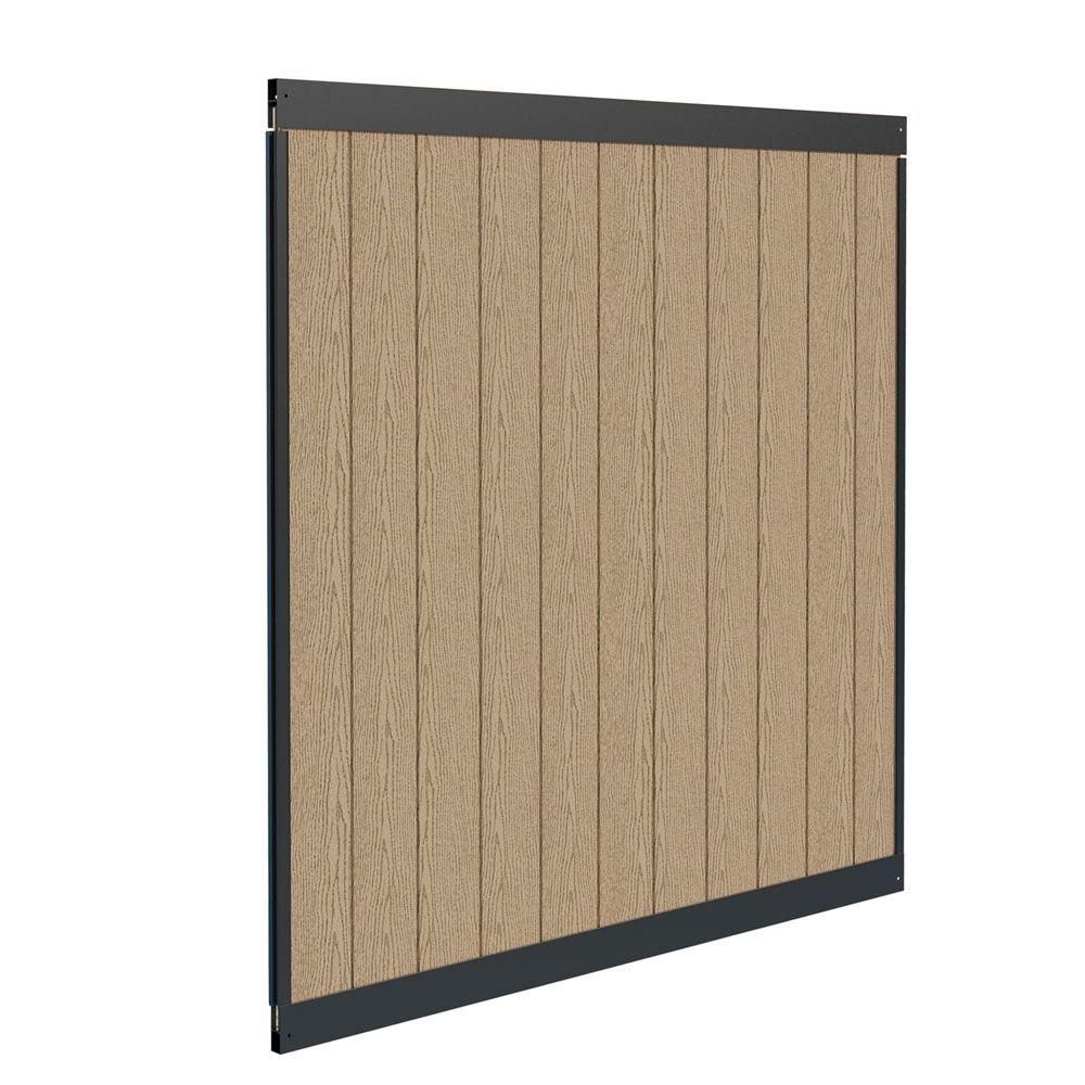 black vinyl privacy fence. Veranda Urban Birchwood Vinyl And Matte Black Aluminum Privacy Fence Panel Kit Adds A Sophisticated, Contemporary Touch To Your Outdoor Oasis. N