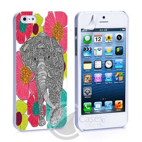 Elephant Tribal Flower iPhone 4, 4S, 5, 5C, 5S Samsung Galaxy S2, S3, – iCasesStore
