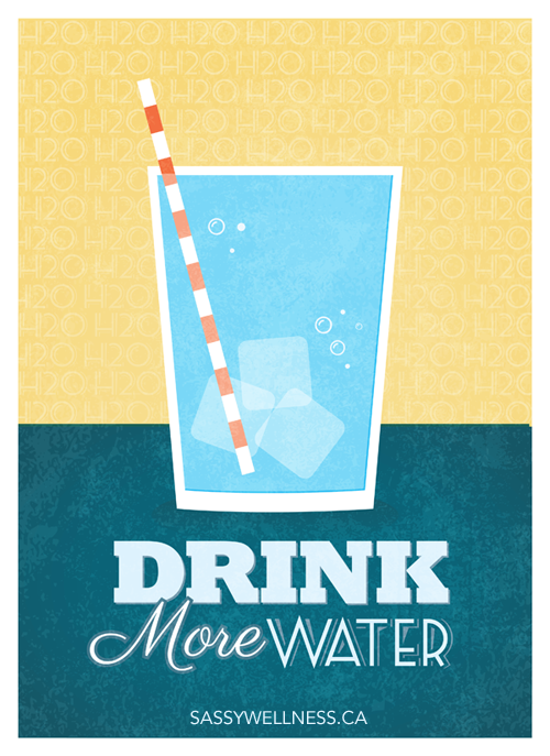 Drink More Water! | Water for Weight Loss @ sassywellness.ca