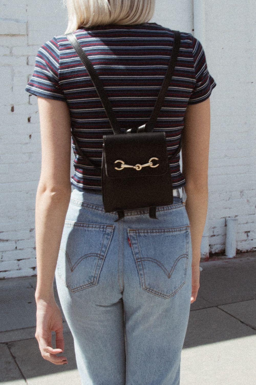 7f22c49d7192 Gold Horsebit Mini Backpack Purse - Bags   Backpacks - Accessories ...