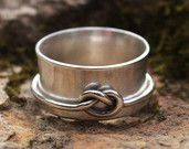 Spinner Knot Ring 925 Sterling Silver Brushed Finish Hand Forged