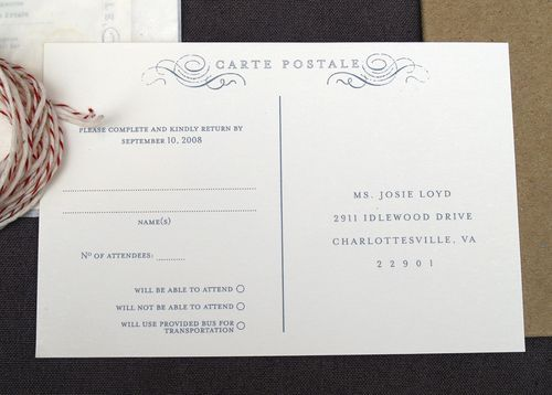 Laurel + Jedd\u0027s Creative and Elegant Wedding Invitations Rsvp