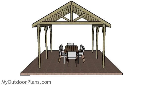 12x14 outdoor shelter plans myoutdoorplans free for Outdoor pavilion plans