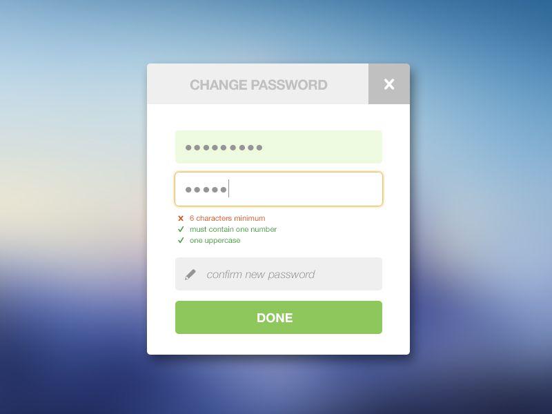 Change Password Password Strength Change New Password