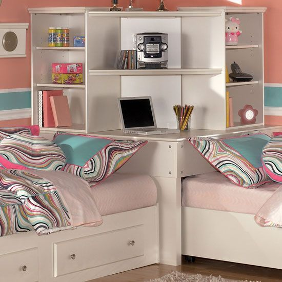 Shared Boys Bedroom Storage: Corner Twin Beds On Pinterest