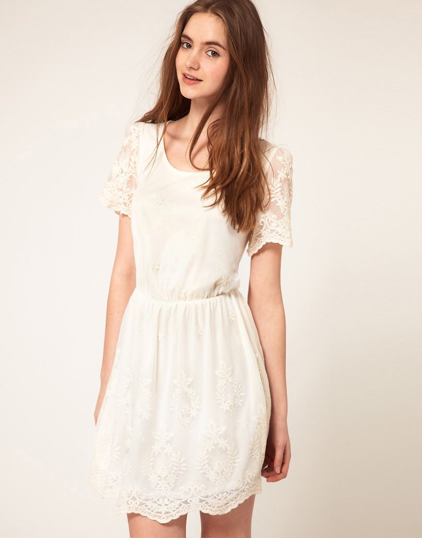 Asos skater dress with embroidery c l o t h e s uc