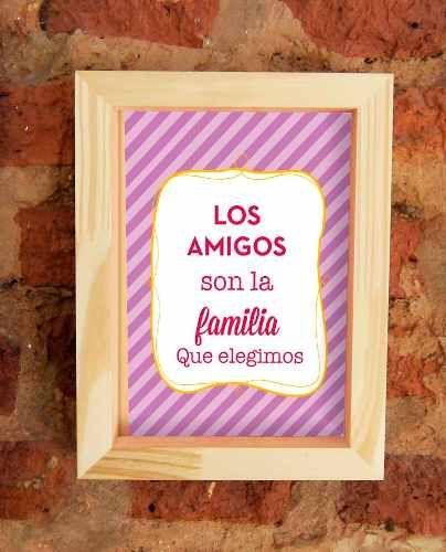 cuadros con frases diseño - marco madera   Cuadros   Pinterest