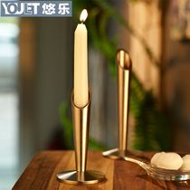 Au Lac YOULET European stainless steel candlestick candle holder candlestick Home Decoration stylish bar and restaurant