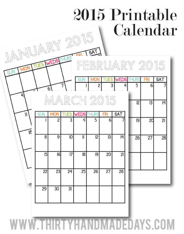 Updated Printable Calendars For 2015 Printable Calendars