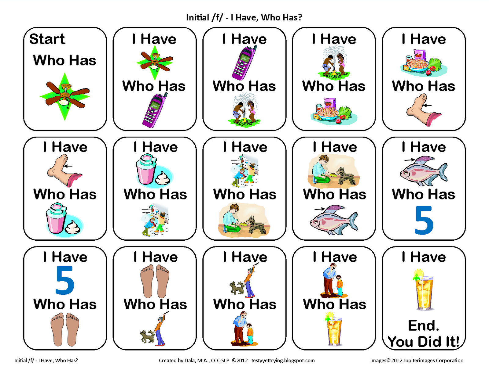 From The Blog Testy Yet Trying Speech Card Game For
