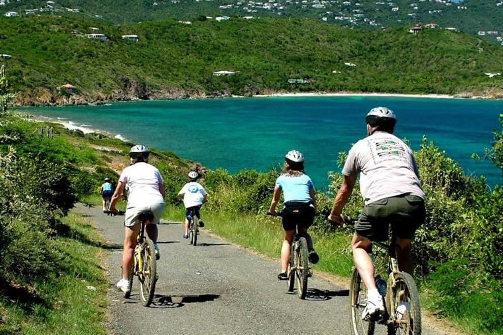 St Thomas Map Virgin Islands%0A The road trip from one island to another on the bicycle alongside the sea     St ThomasVirgin