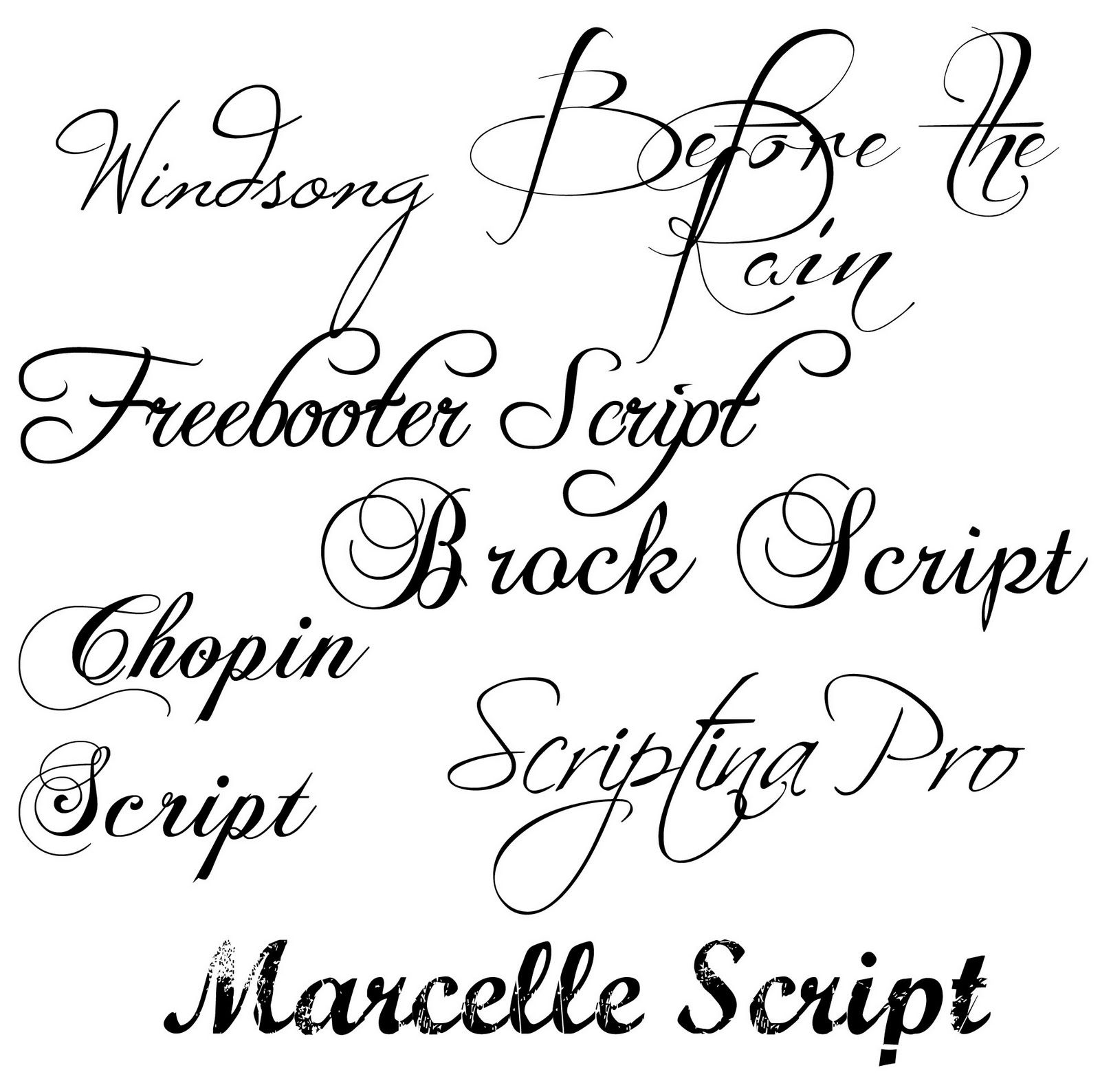 Fancy Script Tattoo Generator: Links To Free Downloads Of Fancy Fonts Via MD School Mrs
