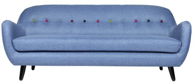 Christian Rudolph Christiansen Retro Curved 3 Seater Sofa