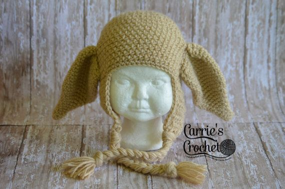 Crochet Dobby the House Elf Hat Best Seller by carriescrochetUS 449f61b4f43