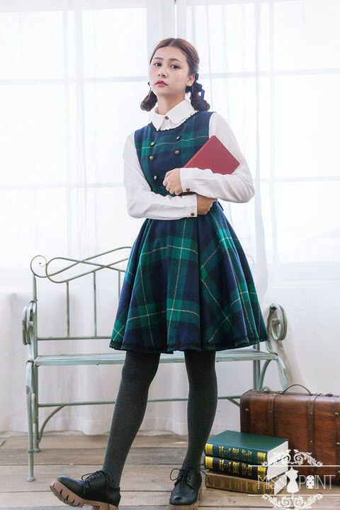 New Released ★Customizable Collge School Style Lolita Outfits★ from Miss Point