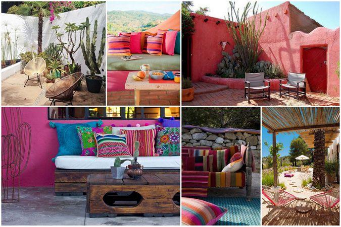 Terrasse mexicaine outdoor pinterest terrasses for Salon ethnique chic
