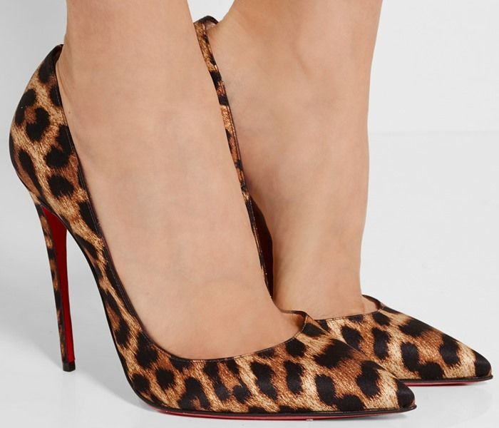 7a7c90ed4a65 Christian Louboutin So Kate 120 leopard-print satin pumps