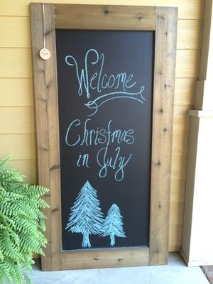 Beautiful hand crafted solid weathered wood frame chalkboard in Garner, NC (sells for $100)
