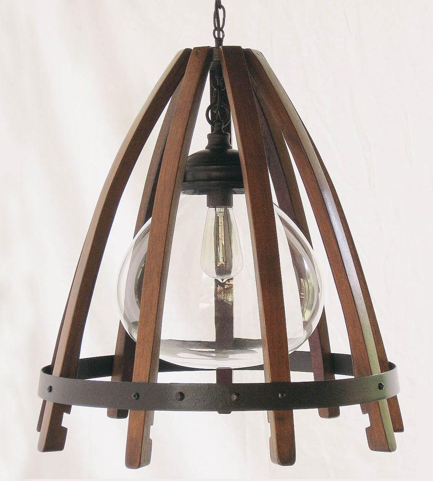 Recycled wine barrel pendant light pendant lighting barrels and wine recycled wine barrel pendant light arubaitofo Gallery