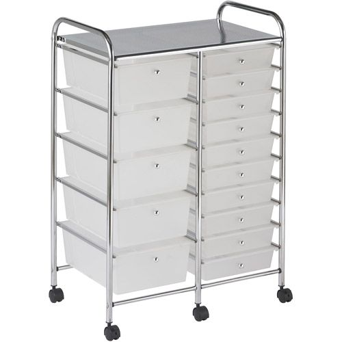 15 Drawer Mobile Organizer Walmart Com Storage Drawers Mobile Organization Drawers