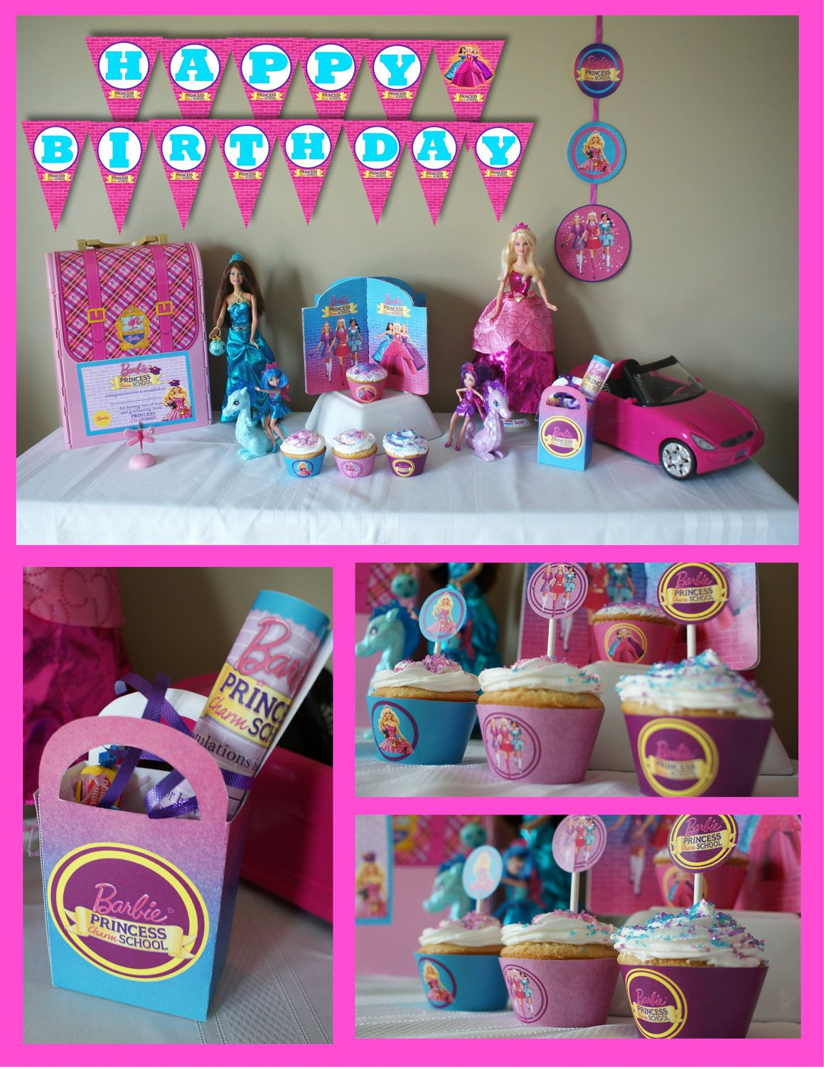 Barbie Princess Charm School Inspired Birthday Party