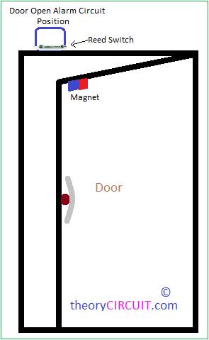 Door Open Alarm Circuit Alarm Switch