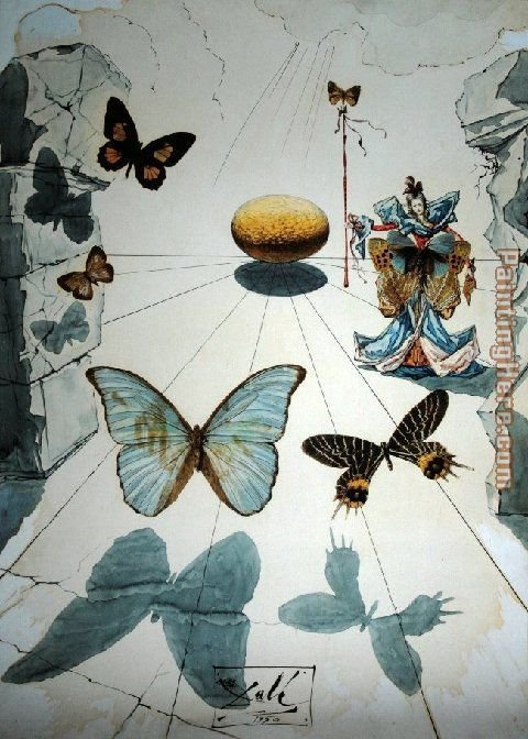 BUTTERFLIES Painting by Salvador Dali | Butterflies ...
