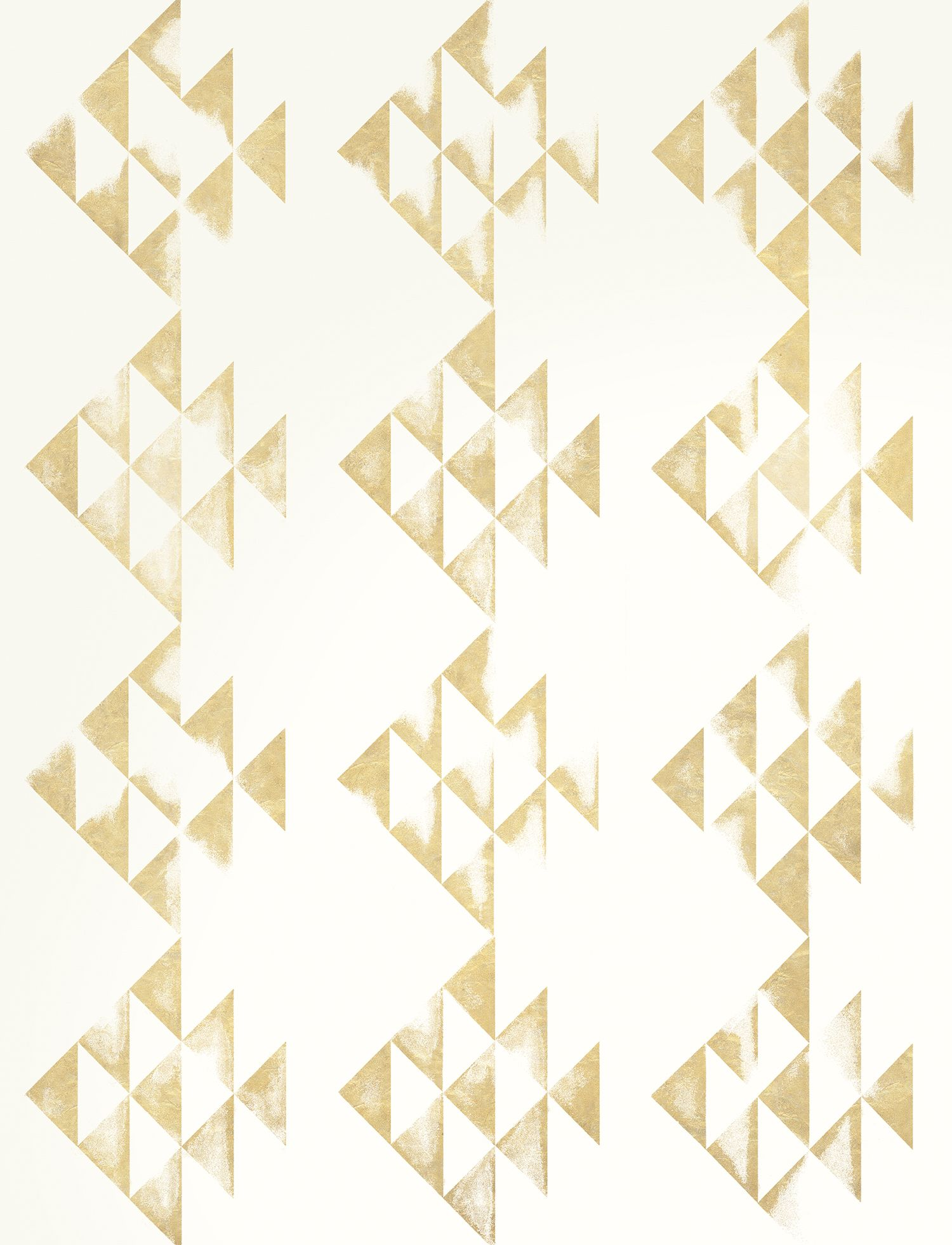 Amish Fish In Metallic Gold On Bone White From Manuka Textiles Gold