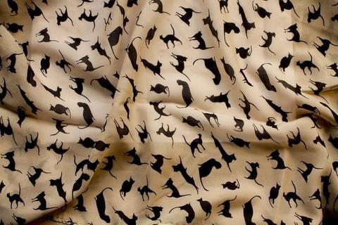 Foulard aux motifs chat - J'aime vraiment Chat