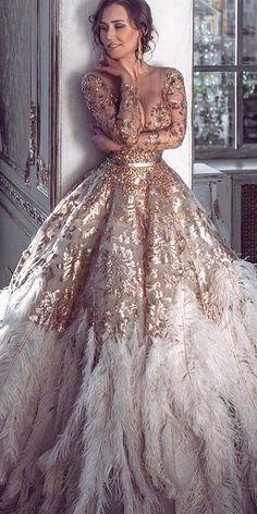 24 beautiful feather wedding dresses  wedding dress with