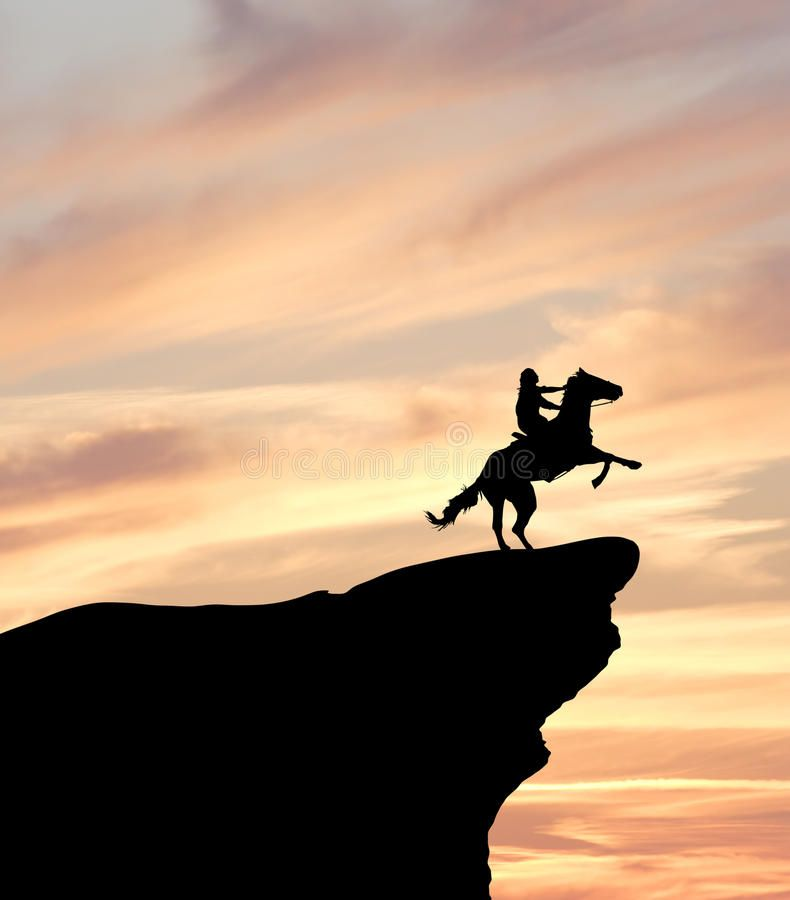 Horse Rider on Cliff Silhouette. Silhouette of a horse rider on a cliff at  sunse , #Ad, #Cliff, #Silhouette, #Horse, #Rider, #cliff #a… | Horse rider,  Horses, Rider