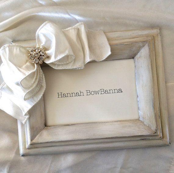 RESERVED For Melinda: QUICK SHIP Frame Bow White Religious Jewel ...