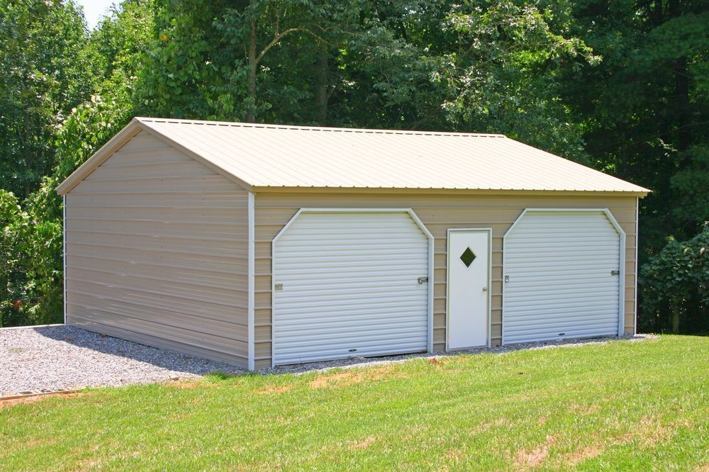 Details about 22 x 26 x 9 Metal Garage Delivered/Installed